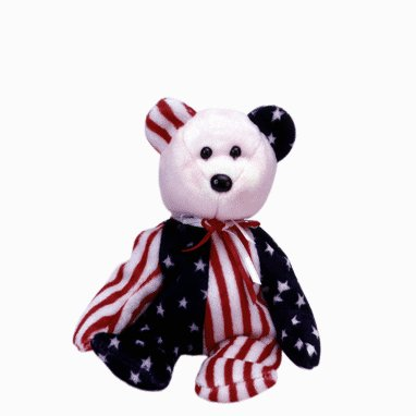 Spangle the Pink Face bear,  Beanie Baby - Retired