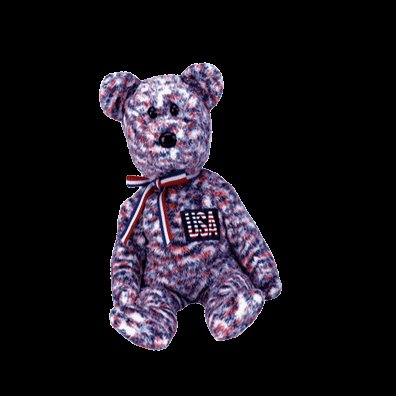 USA the American Bear (USA Exclusive),  Beanie Baby - Retired