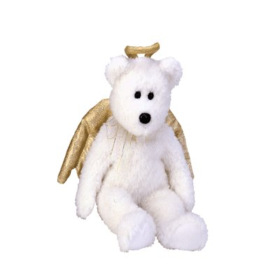 Halo II the angel bear,  Beanie Buddy - Retired