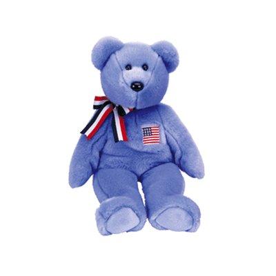 America Blue,  Beanie Buddy - Retired