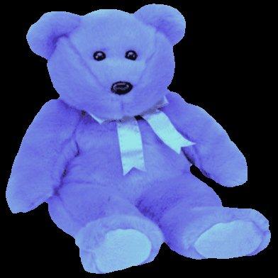 Clubby II the bear,  Ty Beanie Buddy - Retired