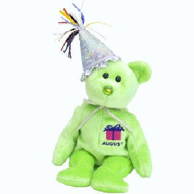 August 2002 the bear,  Beanie Baby - Retired