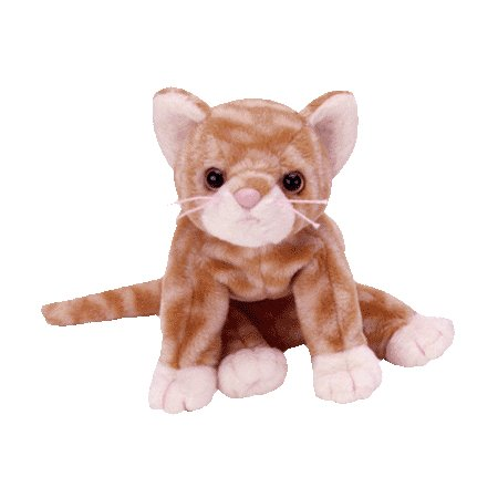 Amber the gold tabby, Beanie Baby - Retired