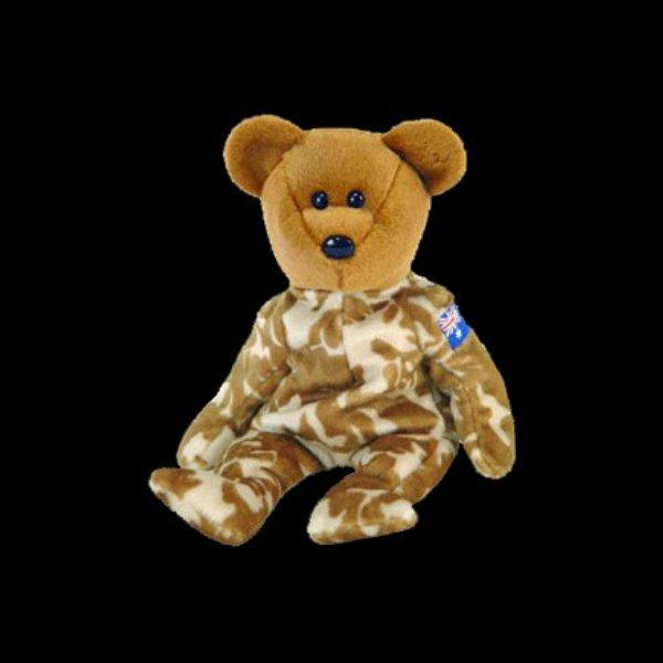 Hero(Australia) the bear,  Beanie Baby - Retired