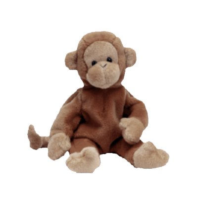 Bongo the monkey,  Beanie Baby - Retired