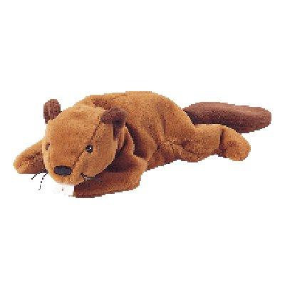 Bucky the beaver,  Beanie Baby - Retired