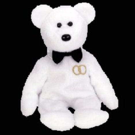 Mr. the groom bear,  Beanie Baby - Retired