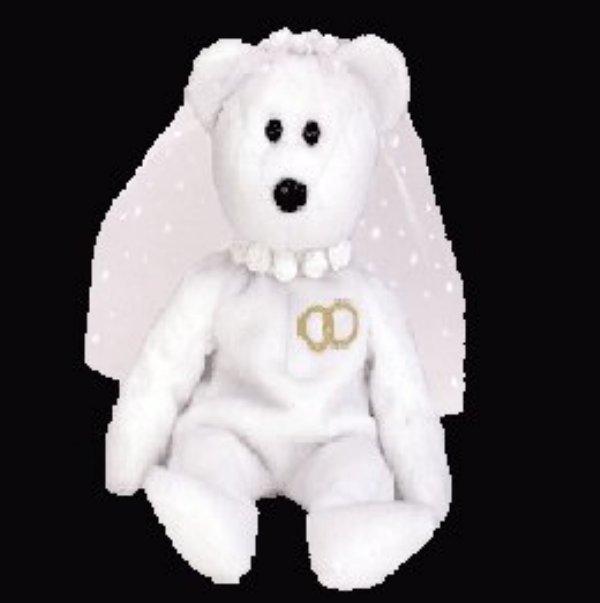 Mrs. the bride bear,  Beanie Baby - Retired