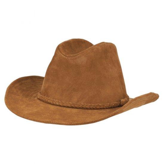 Mokkanahkainen cowboy hattu Koko L