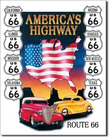 Route 66 metallikyltti