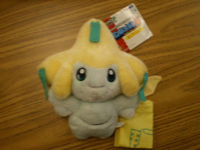 Large Jirachi Tomy Plush w/Cloth Bag