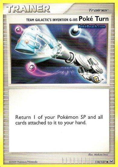 Non-Holo Team Galactic Invention Poké Turn Platinum 118/127