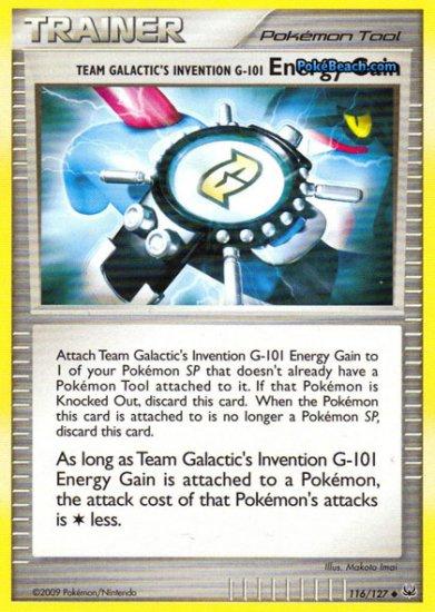 Non-Holo Team Galactic Invention Energy Gain Platinum 116/127