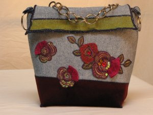 Recycled Handmade Patchwork Purse
