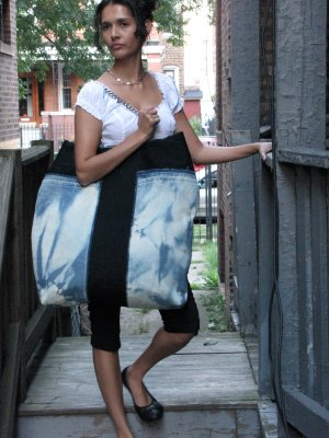 Texturally Distressed Handmade Handbag