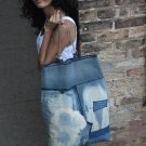 Oversized Recycled Denim Handmade Handbag
