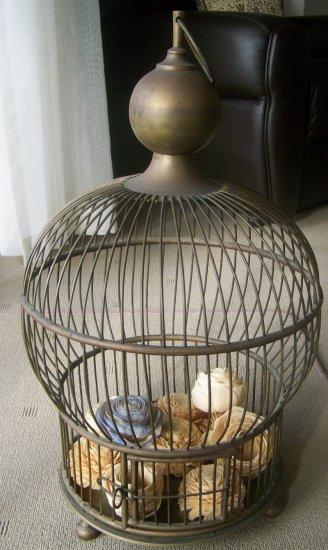 Plantation Brass Antique bird cage,