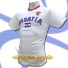 CROATIA WHITE COOL FOOTBALL T-SHIRT SOCCER Size M / L59