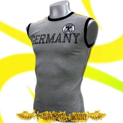 GERMANY GERMAN GREY SOCCER SLEEVELESS T-SHIRT Size M / H77