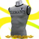 GERMANY GERMAN GREY SOCCER SLEEVELESS T-SHIRT Size M / H77