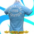 ARGENTINA 1986 CHAMPION  SOCCER POLO T-SHIRT FOOTBALL Size M / i02
