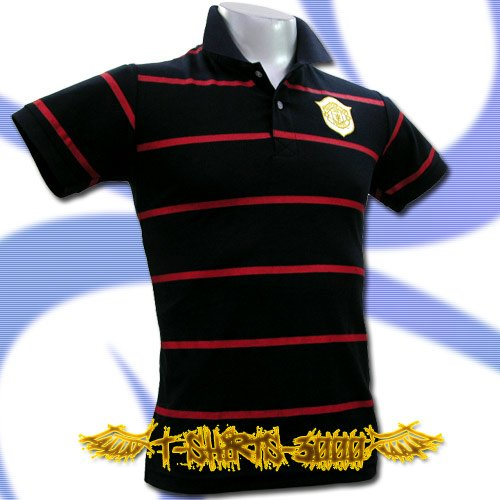 MAN UNITED UTD GOLD DARK BLUE/RED POLO T-SHIRT SOCCER Size M / i24