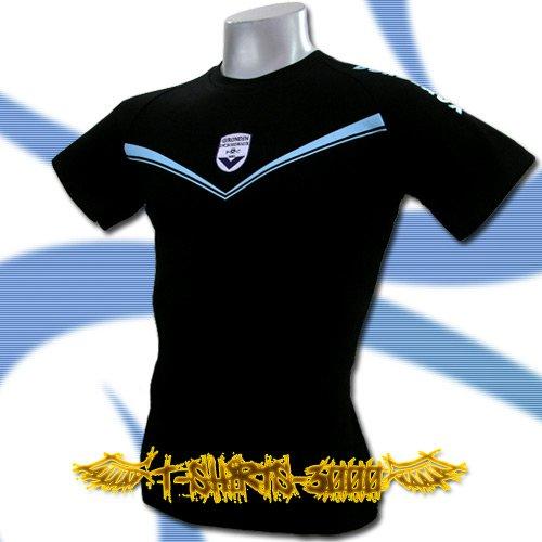 GIRONDINS DE BORDEAUX BLACK FOOTBALL T-SHIRT SOCCER Size M / J44