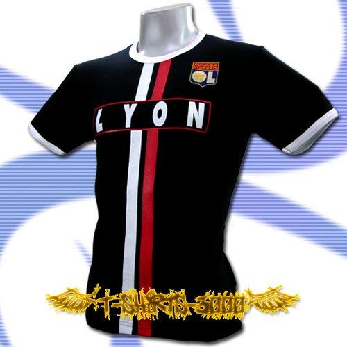 OLYMPIQUE LYONNAIS DARK BLUE FOOTBALL T-SHIRT SOCCER Size M / J49