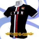 OLYMPIQUE LYONNAIS DARK BLUE FOOTBALL T-SHIRT SOCCER Size M / J49