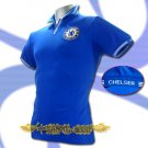 CHELSEA BLUE FOOTBALL COOL POLO T-SHIRT SOCCER Size M / K49