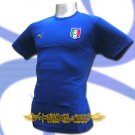 ITALY BLUE ITALIA FOOTBALL COOL T-SHIRT SOCCER Size L / M15
