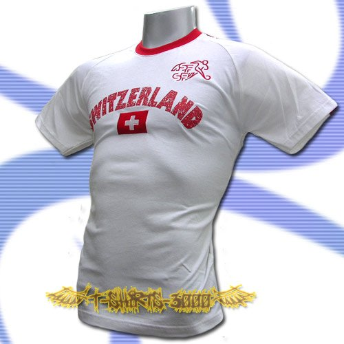 SWITZERLAND WHITE FOOTBALL T-SHIRT SOCCER Size M / L94