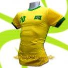 BRAZIL YELLOW BRASIL #10 COOL T-SHIRT SOCCER Size M / L91