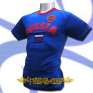 RUSSIA BLUE ATHLETIC FOOTBALL T-SHIRT SOCCER Size M / L81