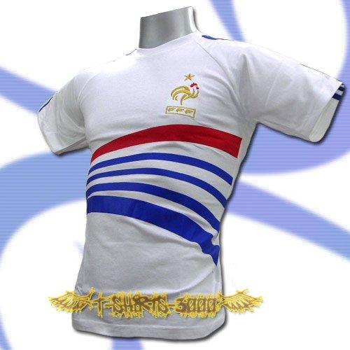 FRANCE WHITE FOOTBALL COOL T-SHIRT SOCCER Size M / L74