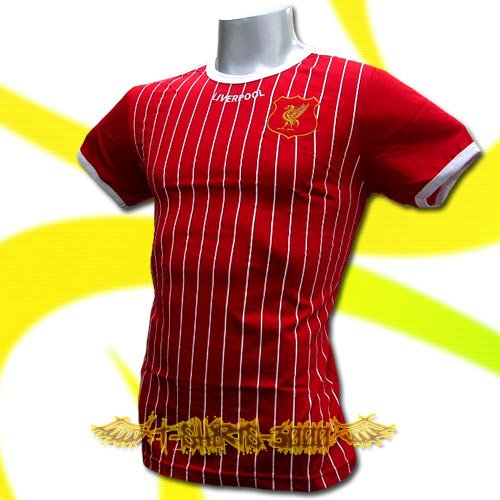 LIVERPOOL RED FOOTBALL RETRO T-SHIRT COOL SOCCER Size M / L44