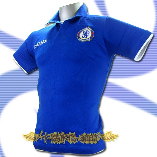 CHELSEA BLUE FOOTBALL COOL POLO T-SHIRT SOCCER Size M / K47