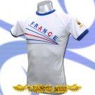 FRANCE WHITE TOP FOOTBALL T-SHIRT SOCCER TEE Size M / E07