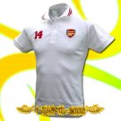 ARSENAL #14 WHITE FOOTBALL POLO T-SHIRT SOCCER Size M / F71