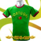 PORTUGAL GREEN FOOTBALL TEE T-SHIRT SOCCER Size M / F79
