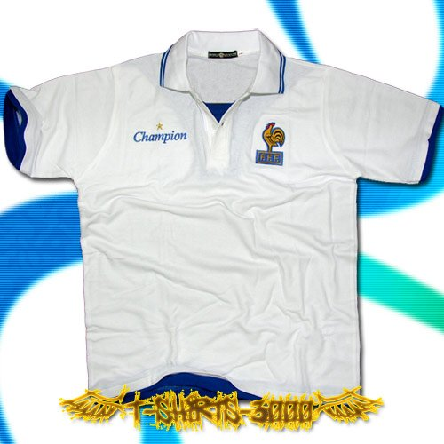 FRANCE WHITE SOCCER POLO T-SHIRT FOOTBALL Size L / G51