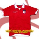 ENGLAND RED FOOTBALL POLO T-SHIRT SOCCER Size M / G52