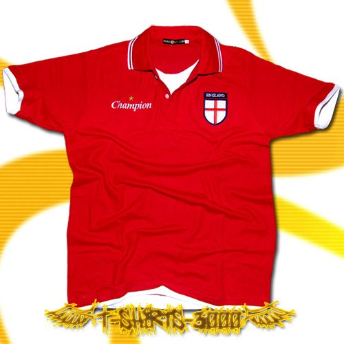 ENGLAND RED FOOTBALL POLO T-SHIRT SOCCER Size L / G54