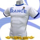 FRANCE WHITE SOCCER RETRO TEE T-SHIRT FOOTBALL Size M / H54