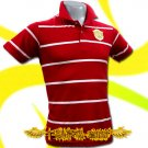 MAN UNITED UTD GOLD RED/WHITE POLO T-SHIRT SOCCER Size M / i22