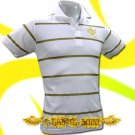MAN UNITED UTD GOLD WHITE/GOLD POLO T-SHIRT SOCCER Size M / i23