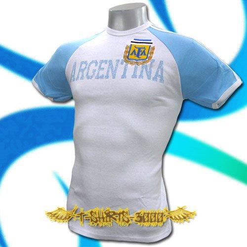 ARGENTINA WHITE SOCCER ATHLETIC T-SHIRT FOOTBALL Size M / J03