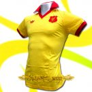 LIVERPOOL YELLOW RETRO POLO TEE T-SHIRT SOCCER Size M / K72
