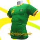 BRAZIL GREEN BRASIL #10 COOL T-SHIRT SOCCER Size L / L92