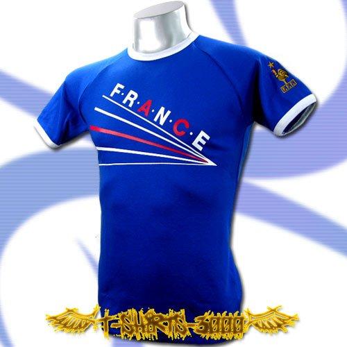 FRANCE BLUE FOOTBALL TEE T-SHIRT SOCCER Size M / E08